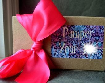 SPA GIFT BASKET. Body Butter & Foot Scrub. Spa Gift Set. Natural Skin Care. Bridesmaid Gift. Spa Party Gift. Spa Kit. Bridal Shower Gift.