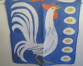 Vintage Vera Chicken & Egg Kitchen Towel HTF