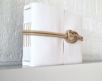 50% SALE Wedding Guest Book: White and Natural. Simple elegant style for bridal showers, engagements and weddings Made in UK ships worldwide