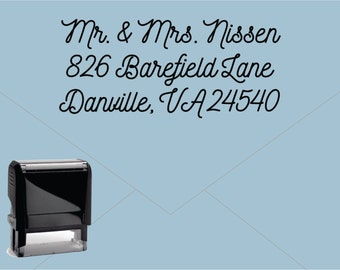 New for 2016 FREE US SHIPPING * Self Inking Return Address Stamp * Custom Address Rubber Stamp (E408)