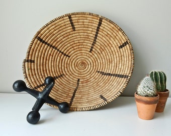 Coiled Woven Native Southwestern Basket Bowl