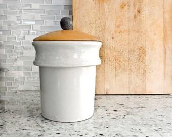 Stoneware Crocks, Kitchen Canister, Utensil Holder, Bathroom Decor