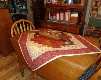 Log Cabin table cloth