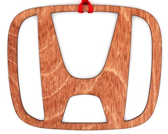 Wooden Honda Ornament