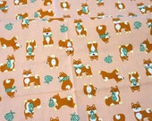 Shiba inu dog print  half meter 50 cm by 106 cm or 19.6 by 42 inch