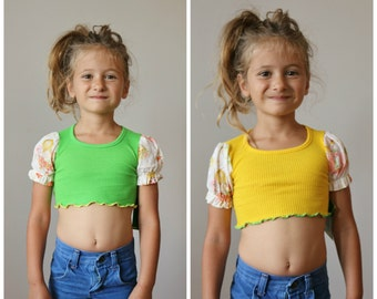 NOS, 1970s Sugar & Spice Crop Top >>> 32t/3t/4t