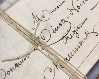 5 Antique French Love Letters Paris Calligraphy Script Lot E