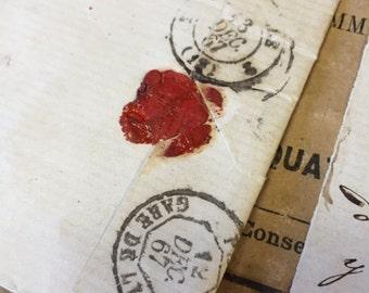 5 Antique 1800s French Letters Paris Calligraphy Script Lot A