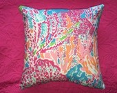 New Pillow made with Lilly Pulitzer 2014 Lets Cha Cha for Garnet Hill fabric, 3 sizes available