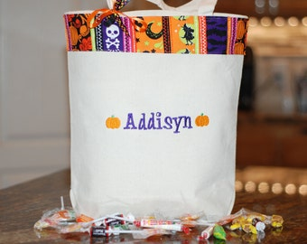 Personalized Halloween tote bag disney trick or treat