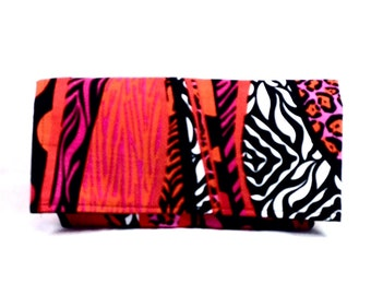 Coupon Organizer, Coupon Holder, Ready to Ship, Money Management, Budget Wallet, Coupon Purse, Bold Pink Orange and Black
