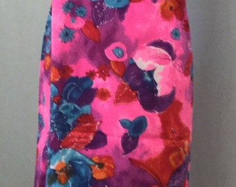 Vintage Hawaiian Wrap Dress. 70's Luau Tiki VLV sundress.