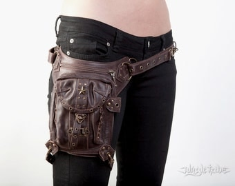 BLASTER 4.0 Brown Leather Holster and Hip Bag