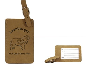 L3496 Leonberger Standing Personalized Luggage Tag