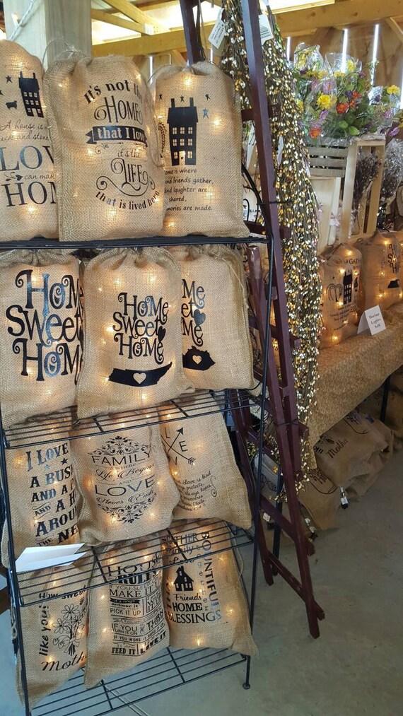 Burlap bag burlap bag with lights burlap bag lights burlap for Decorative burlap bags