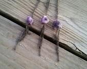 raw amethyst & chain tassel necklace // nickel free jewelry // amethyst necklace // chain tassel necklace // natural stone jewelry // HEY03A