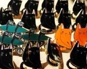 Vergünstigte defekte Katze Emaille-Anstecknadeln - halber Preis