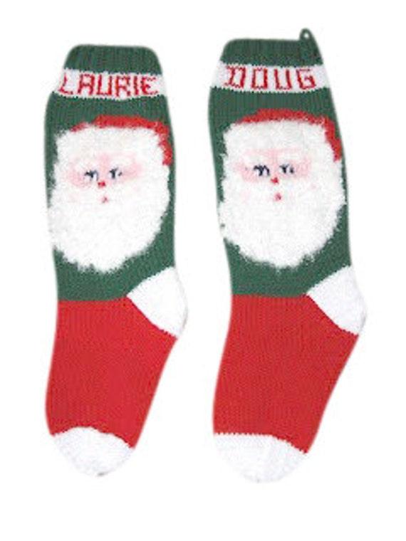 Santa Claus Stocking, Christmas Stocking, Christmas Stocking Patterns, Christmas Stocking Design, Family Stockings, Christmas Knitting