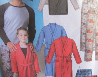 Uncut Butterick B4358 - Father and Son Pajamas