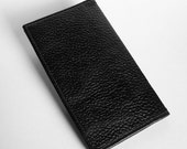 Leather Planner Cover with 2016 Calendar - Textured Black Leather