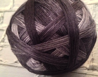 District 13 self striping hunger games inspired yarn all shades of gray to black