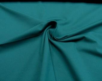 Jersey • uni petrol • Cotton Jersey Knit Fabric 0.54yd (0,5m) 002423