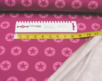 Summer sweat • stars in circles • pink • Fabric  002437