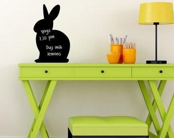 Reusable Chalkboard Bunny Wall Decal