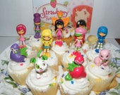 12 Strawberry Shortcake Cake Toppers Baking Supplies