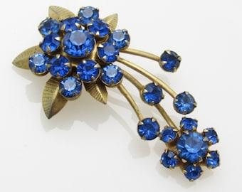 Rhinestone Brooch Vintage Comet Atomic Jewelry P7345