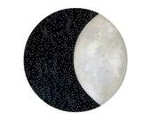 NEW - Moon and Stars 12 - Archival 8x10 Art Print - Contemporary Watercolor Painting - Astronomy, Night Sky - by Natasha Newton