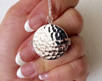 Large Locket Necklace - Solid 925 Sterling Silver - Insurance Included