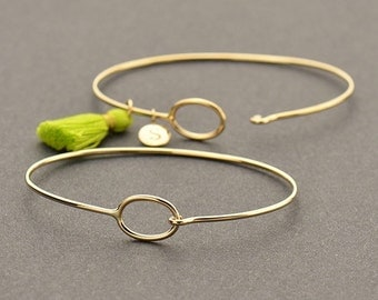 Natural Bronze Charm Bracelet with Hook & Eye Closure - Insurance Included