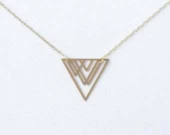 Overlapping Triangles Pendant Necklace | Item No. ATL-N-121