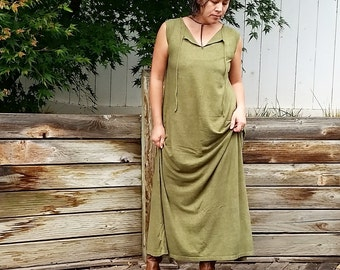 Wildwood peasant maxi dress (hemp/organic cotton)