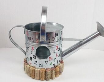 Metal bird house hand made cork metal birdhouse
