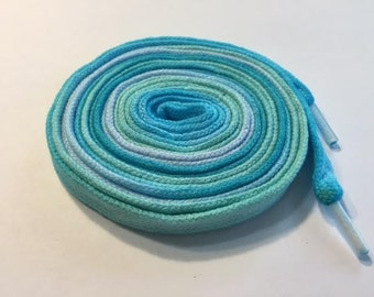 Hand Dyed Shoelaces (54 inch length) Gentle Rain