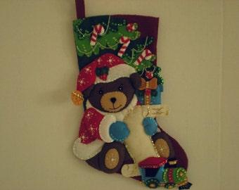 Bucilla Santa Bear Stocking