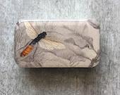 Bee tin, notions tin, pill box