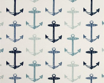 Nautical Shower Curtain, Anchor Shower Curtain, Blue Home Decor, Mariner Decor, Trendy Shower Curtain