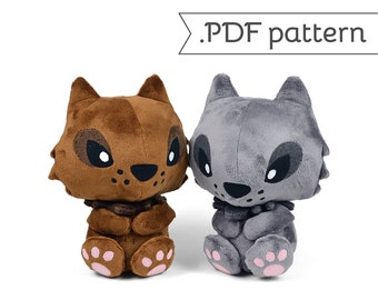 Werewolf Wolf Monster Lycan Lycanthrope Plush Sewing Pattern .pdf Tutorial