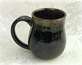 Dark Brown Mottled Mug
