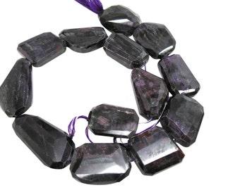 AAA Sugilite Gemstone Beads, 17mm x 22mm, Natural African Sugilite, Faceted Nuggets, Loveofjewelry, SKU 4388