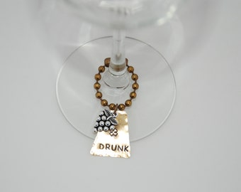 Drunk Synonyms-Wine Glass Charms