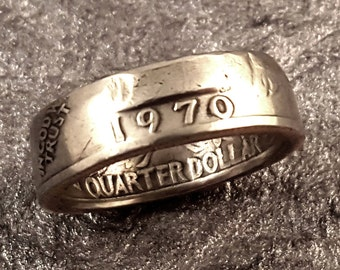 1970 Coin Ring YOUR SIZE 5 to 10.5 Year Quarter MR0705-TYR1970
