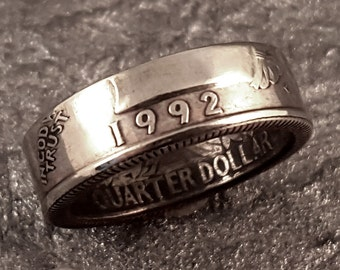 Coin Ring- 1992 Quarter YOUR SIZE MR0705-TYR1992