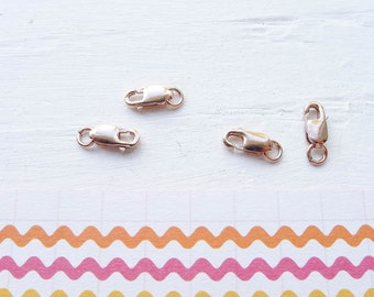 Rose Gold Filled Lobster Clasp Closures