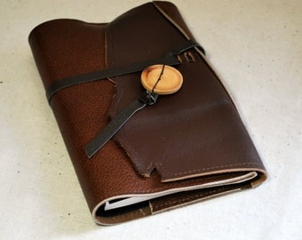 2017 Rugged Leather Planner with Leather Tie- Refillable