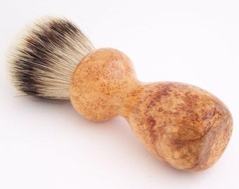 Cherry Burl Wood 24mm Super Silvertip Badger Hair Shaving Brush Handle (Handmade in USA) C3 - Anniversary Gift - Men's Gift - Executive Gift