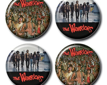 The Warriors 1inch pinback buttons or magnets
